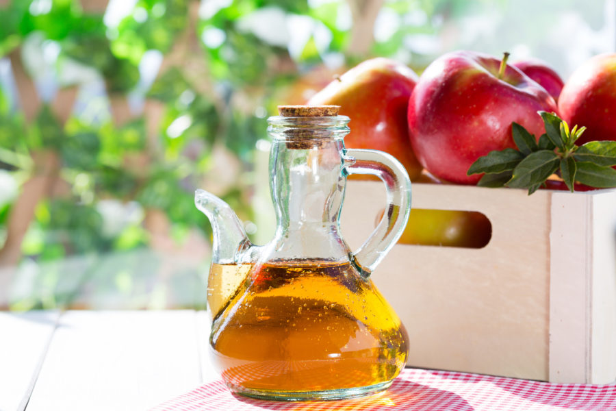 apple cider vinegar in jar