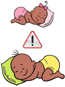 baby sleeping on stomach warning
