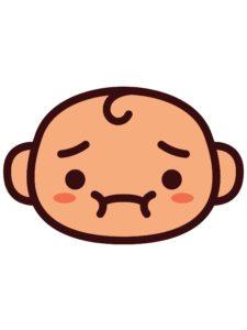 sick baby face