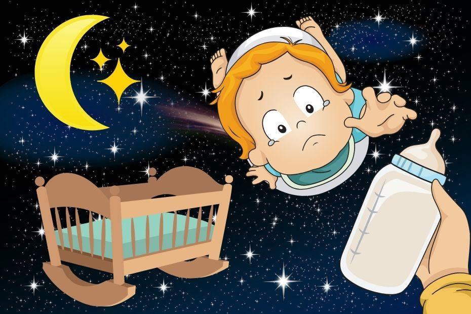 toddler reaching for bottle at night