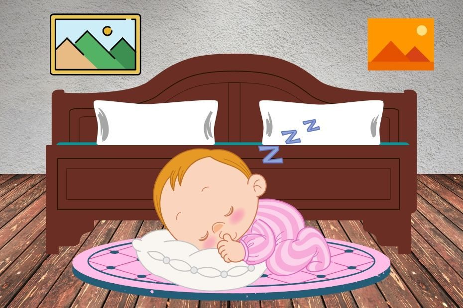 toddler sleeping on floor not bed