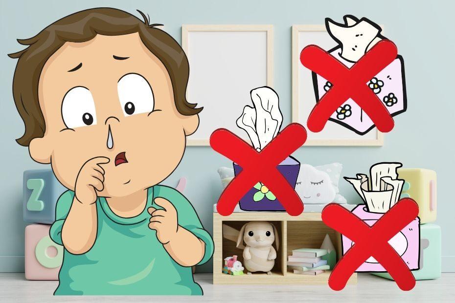 toddler won't blow his nose