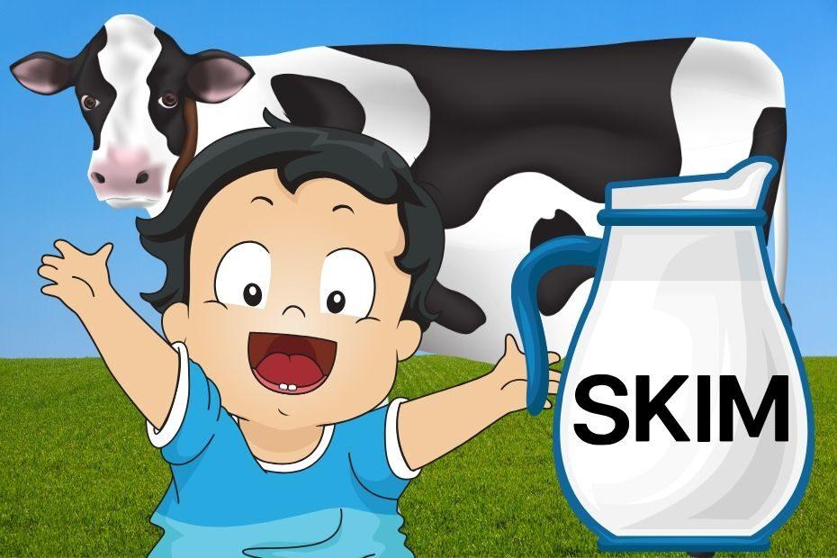 giving baby skim milk